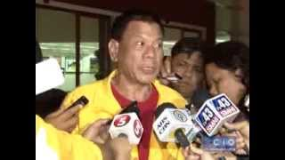 Mayor Rody Duterte after visiting Leyte