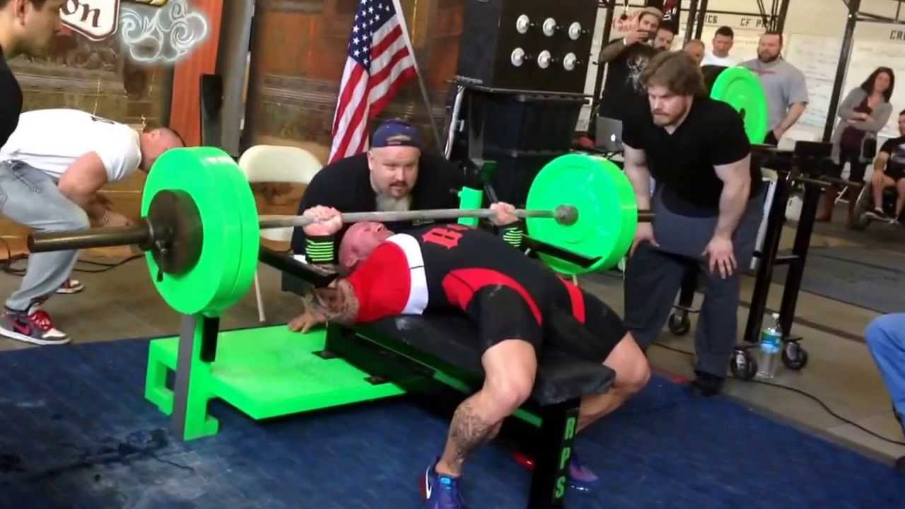 Philip Brewer World Record Bench Press 500 Lbs 226 8kg 165lb 75kg Class Youtube