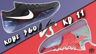 Nike Kobe AD NXT 360 vs KD 11!