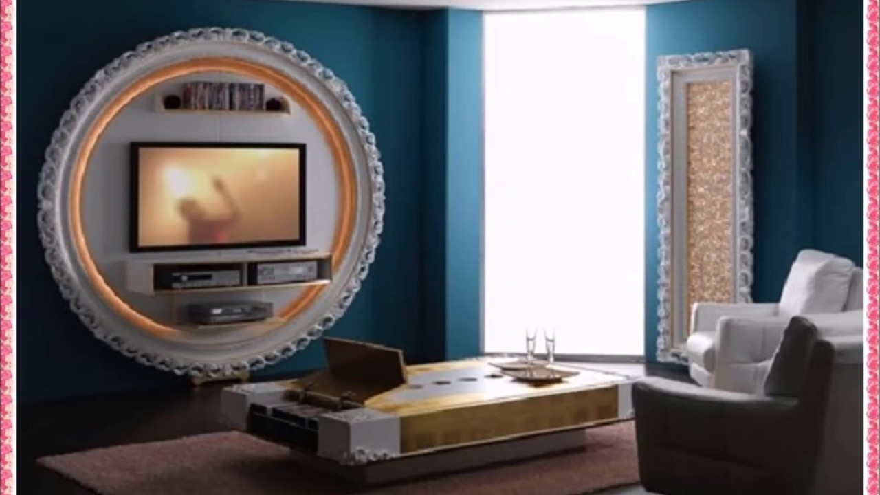 Simple Tv Wall Unit Designs For Living Room Paint Colours Rooms And Attractive T V Youtube