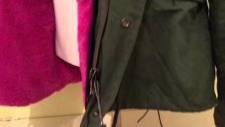 Pink parka fur raccoon jacket