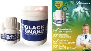 Penis Büyütücü, Geciktirici, Performans Arttırıcı Black Snake Oil Hap Nedir? Tüm Bilgiler!