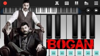 Bogan Whistle BGM Piano Cover   Jayam Ravi   Arvind Swamy   Hansika Motwani