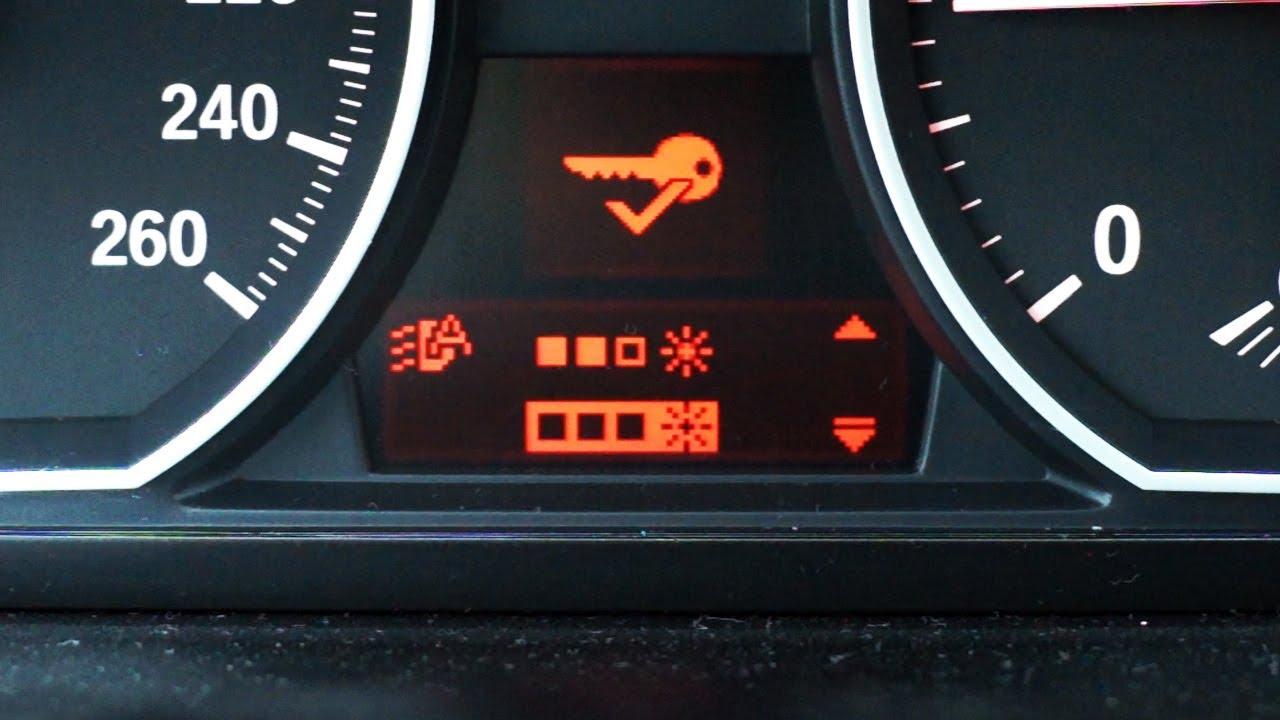 BMW automatic headlights sensitivity setting coding (E87 E90)