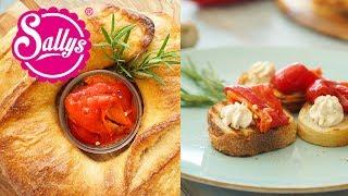 Rote Paprika einlegen / Grillbeilage / gegrillte Paprika