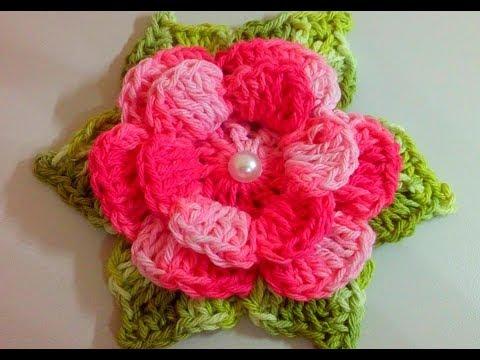 Flor Para Iniciantes Flor Em Crochê Para Aplicação Com Cristina Coelho Alves