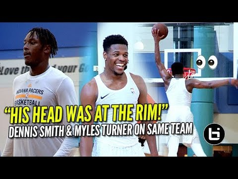 Dennis Smith Jr Shows Off INSANE Bounce at Private NBA Run! Myles Turner Looking SCARY GOOD!