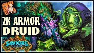 2K ARMOR DRUID IS A REAL DECK?! - Saviors of Uldum Hearthstone