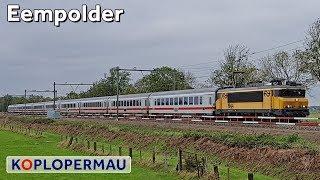 Treinen in de Eempolder bij Soest (treinen compilatie)
