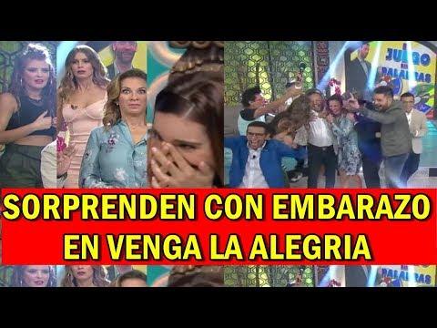 ¡Inesperado embarazo sorprende a todos en Venga la alegría.  Adrián Patiño