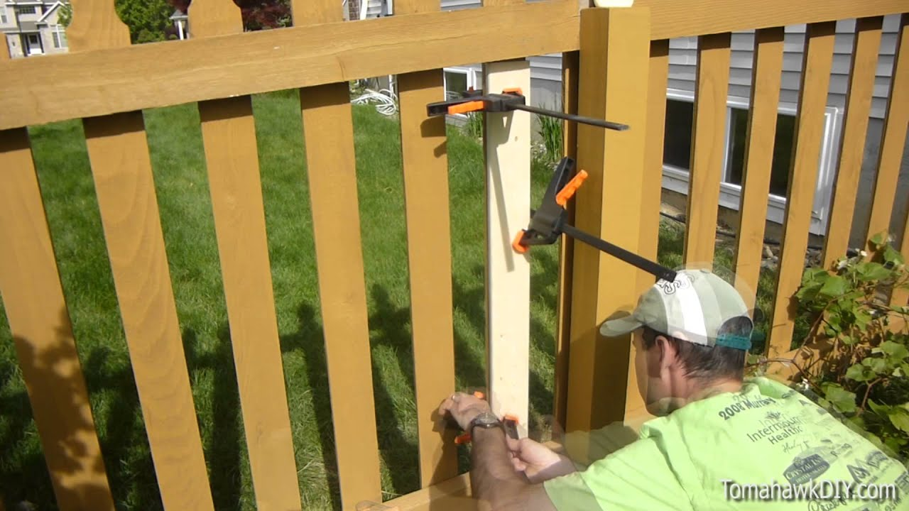 How to Repair a Broken Fence Picket