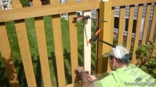 How To Repair A Broken Fence (picket)