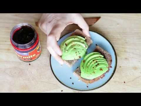 How to make Fast and Healthy Kiwi style breakfast with Avocado. Superfood Marmite.