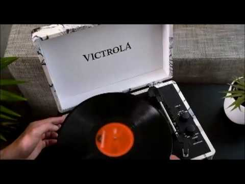 Victrola Suitcase Tocadiscos en maleta Vintage Bluetooth Turquesa