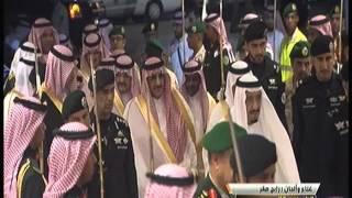 لحظة وصول الملك سلمان وولي العهد لملعب الجوهرة