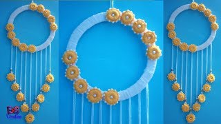 Diy wall hanging|| wool flower wall hanging|| diya room decor ideas||