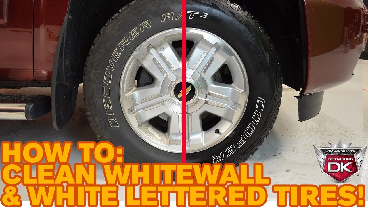 How To Properly Clean Whitewall White Lettered Tires Youtube