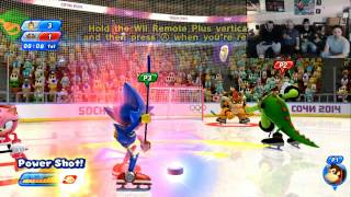 Mario & Sonic at the Olympic Winter Games 2014 Co-op pt16: Ice Hockey