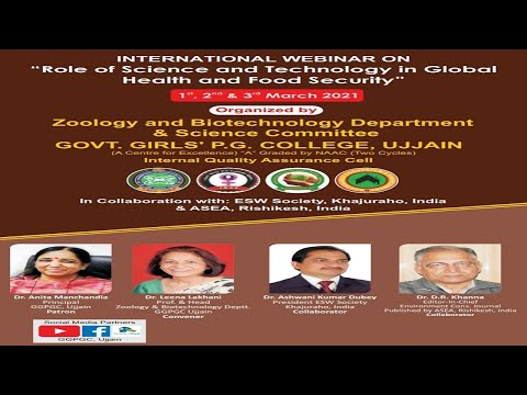"""International Webinar on  """"Role of Science and Technology in Global health and Food security"""""""