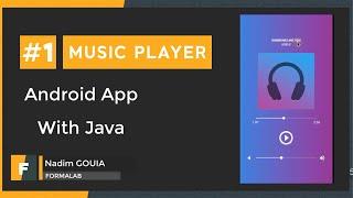 #1 Create Music Player Tutorial - Android Studio | Layout Design | تطبيق مشغل أغاني screenshot 2
