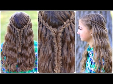 Scissor Waterfall Combo  Combination Hairstyles  YouTube