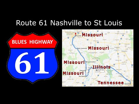 Route 61 Nashville To St Louis