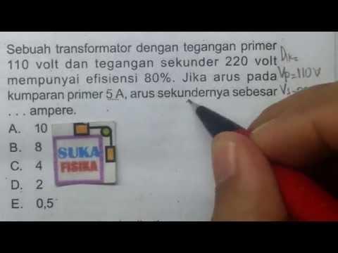 Cara mudah mencari arus pada transformator -fisika SMA