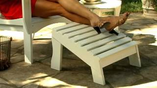 East Cottage Adirondack Chair And Ottoman White - Product Review Video