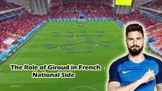 The Role of Giroud in France National Team | World Cup 2018