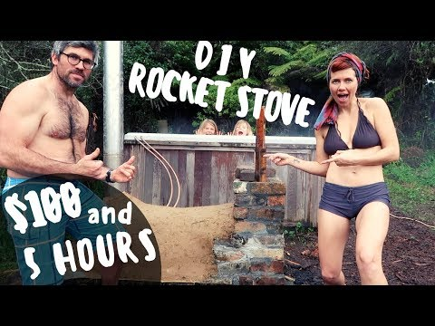 DIY ROCKET STOVE HOT TUB FOR $100 + 5 HOURS | OFF GRID NZ