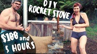 DIY ROCKET STOVE HOT TUB FOR $100 + 5 HOURS   OFF GRID NZ