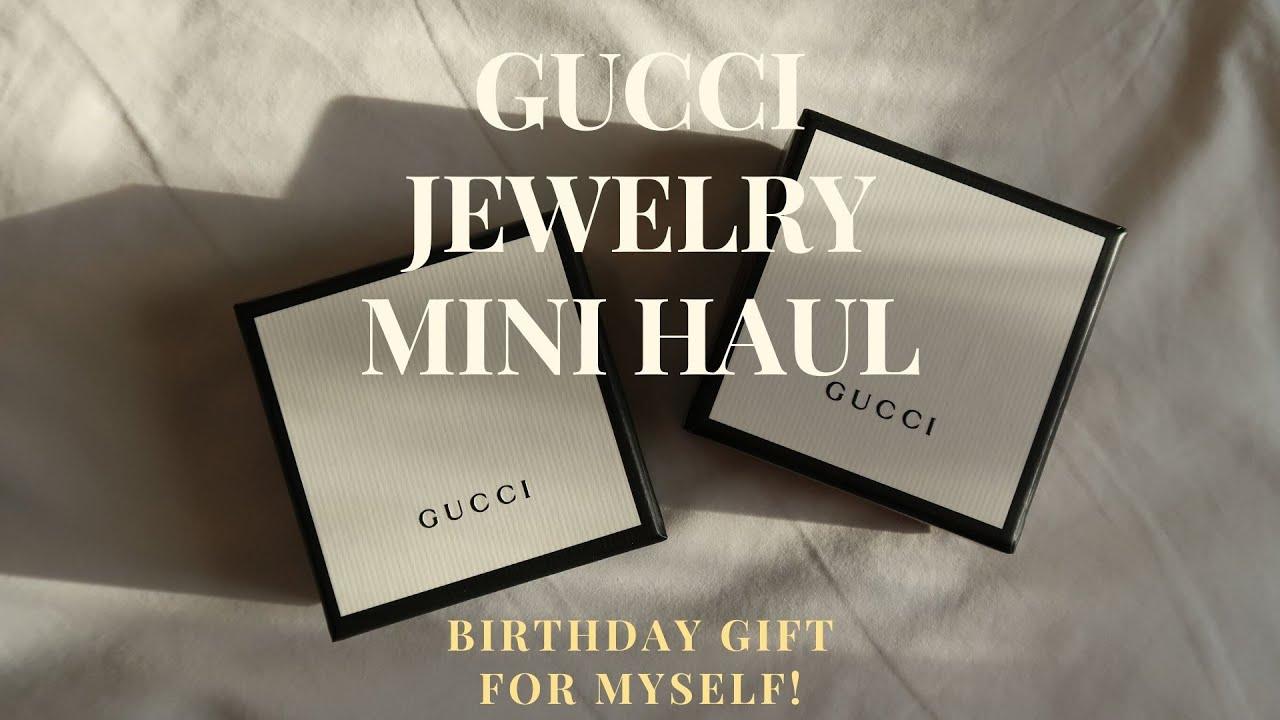 Gucci Jewelry Mini Haul | Interlocking G Earrings \u0026 Double G Flower Ring [Unboxing]