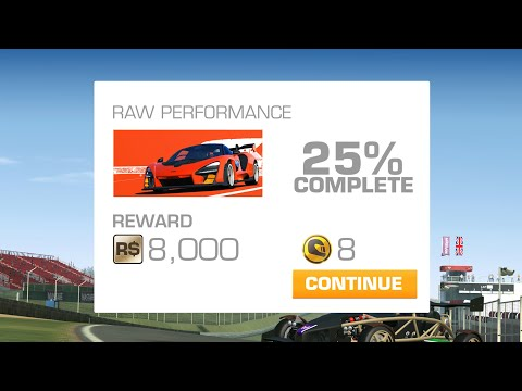 Real Racing 3 Road Collection: ELITE / Raw Performance Tier 6 (PR 68.5) • 25% Complete