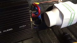 HOW TO KEEP CAR AUDIO AMPS COOL/ reduce heat/ installing cooling fans