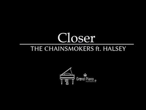 Closer - The Chainsmokers ft. Halsey | Piano Karaoke Cover (Short Version)(instrumental)