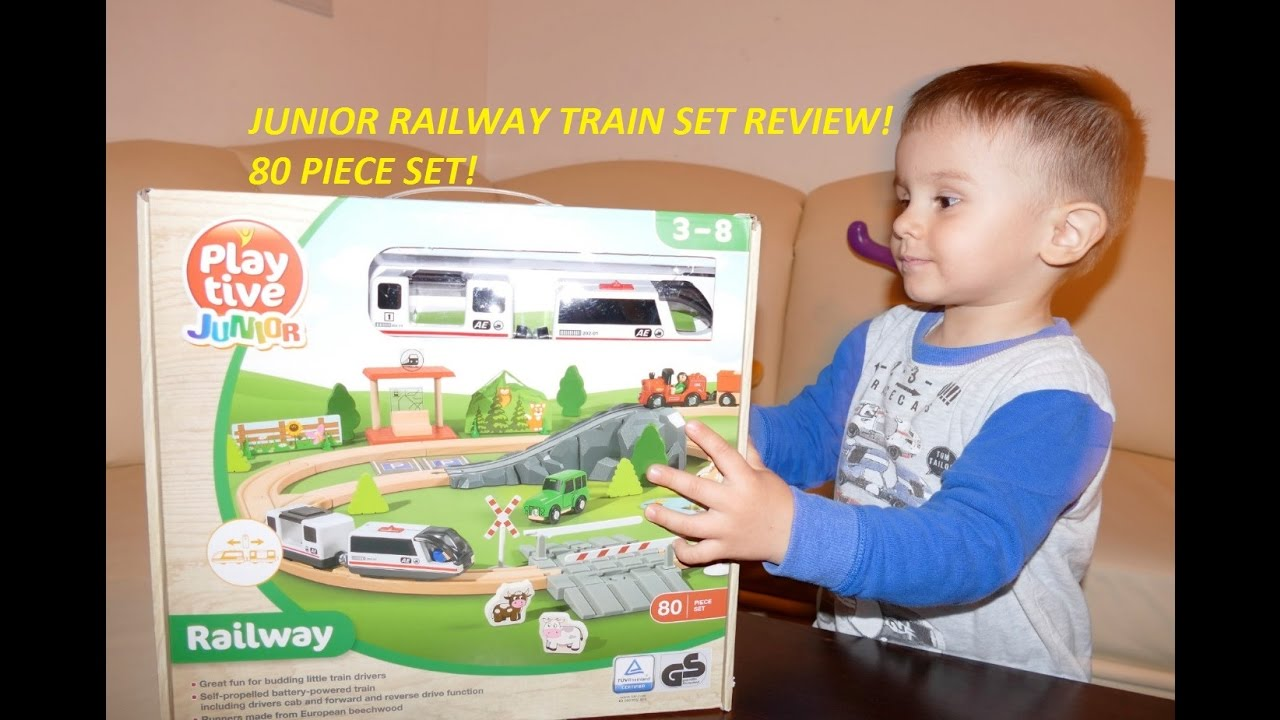 Play Tive Junior Train Railway LIDL Toy Review!80 Piece ...