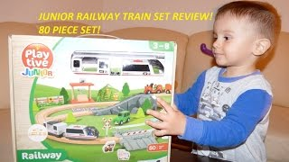 Play Tive Junior Train Railway LIDL Toy Review!80 Piece Train Set!