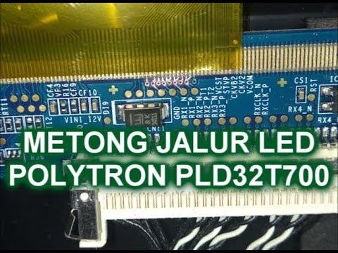 Memotong Jalur Ticon Tv Led Polytron Pld32t700 Gambar Dobel Mp4 Youtube