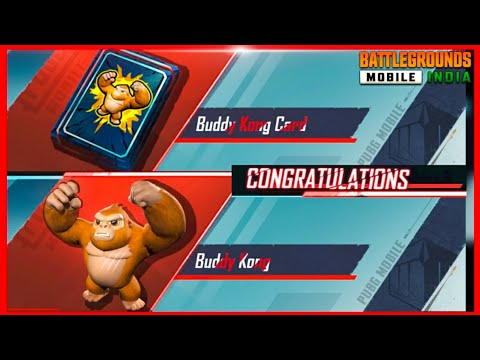 FINALLY GOT BUDDY KONG IN HOLA BUDDY SPIN ( PUBG MOBILE )