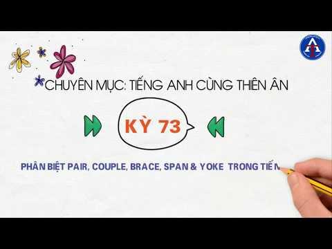 [TIẾNG ANH CÙNG THIÊN ÂN] - Kỳ 73 :  Phân Biệt Pair, Couple, Brace, Span, Yoke