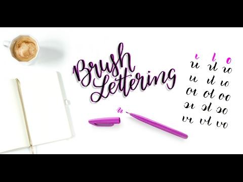 Brush-Lettering lernen: Buchstaben verbinden (Tutorial auf deutsch)