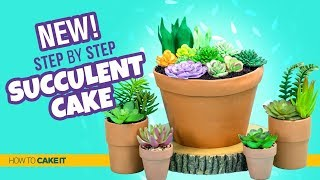 How To Make A FUN Succulent Cake by Asma Qureshi | How To Cake It Step By Step
