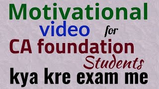 Motivational video for CA foundation Students
