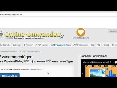 PDF Dateien online zusammenfügen - Anleitung