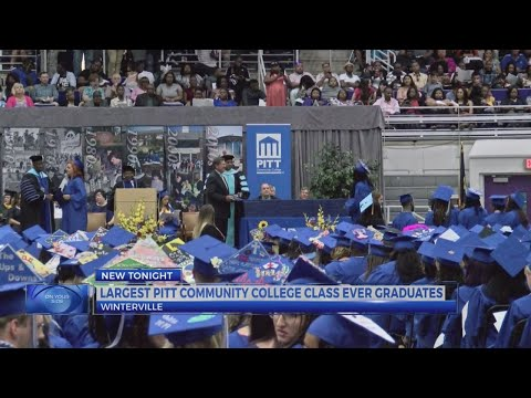 Largest Pitt Community College class ever graduates