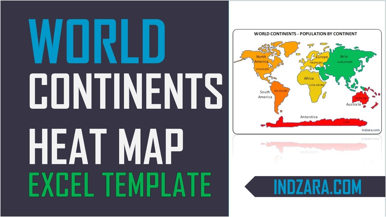 World heat map by continents free excel template youtube world heat map by continents free excel template gumiabroncs Images