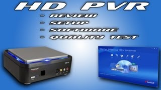 Hauppauge HD PVR - Review/Setup/Software/Quality Test