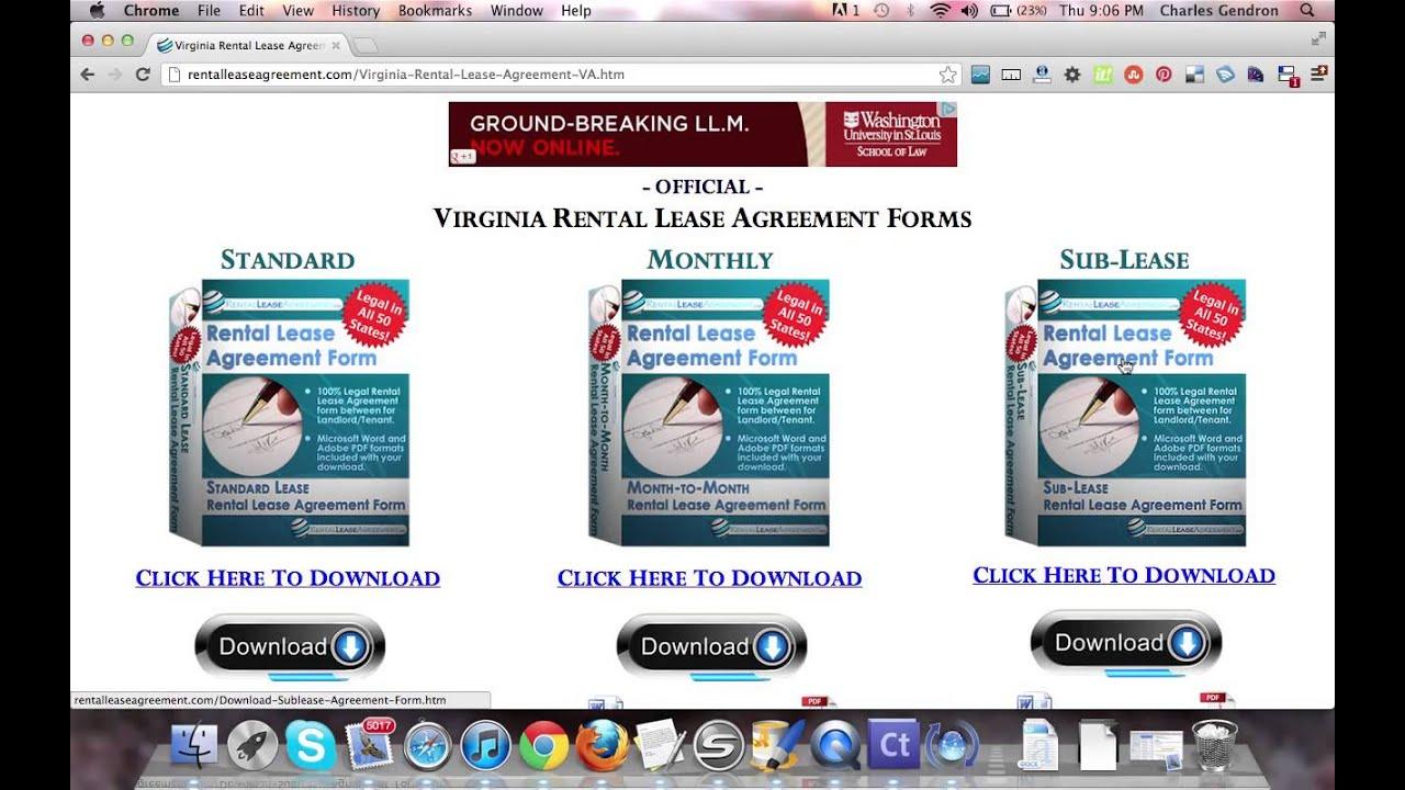 Virginia Rental Agreement Youtube
