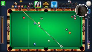 miniclip eightballpool plyaed by Lady Redlion vs Guest