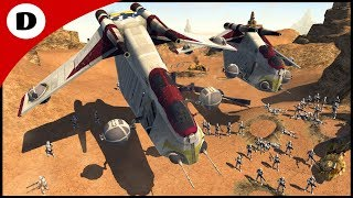CLONE GUNSHIP AIR STRIKE! - Men of War: Star Wars Mod